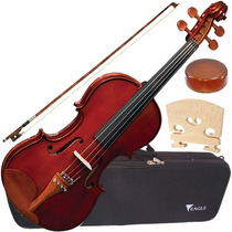 Violino Eagle 4/4 Microafinador + Case Luxo Ve441 Eagle