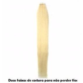 3 Mega Hair Com Fitas Adesivas - 8a - 50gr - 20 Peças - 50cm