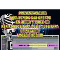 Logos 3d, Para Pantalla Sonideros, Djs, Grupos Hd