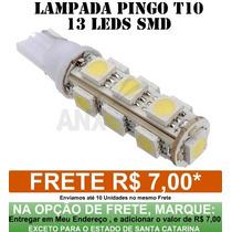 Lâmpada T10 Pingo 13 Leds Super Branco Esmagado Lanterna