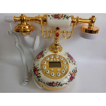 Telefone Fixo C/ Fio,redondo,vintage Antigo