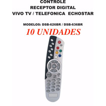 10 Unid.controle Echostar Dsb-626br Dsb 636 Telefonica Vivo