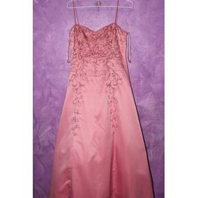 Vestido Para Fiesta Largo Color Rosa