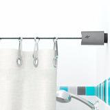 Kit Tensor Para Cortina De Baño Lisboa Gris 16.50g Aquaflex