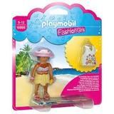 Playmobil Set 6886 Mujer De La Playa Con Blusa Blanca Js B
