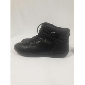 Zapatilla Escolar Con Caña Marca La Gear N°35 Cuero 95%