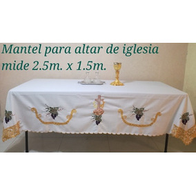 Manteles Bordados Mano Para Altares En Mercado Libre Mexico - Manteles-para-bordar