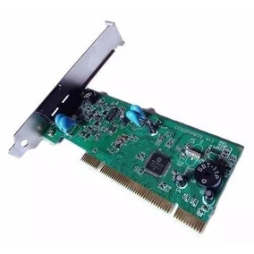 Placa Pci Fax-modem 56kbps C3 Tech M-p2200 V1.0 Nota Fiscal