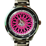 Roda Bbs Relógio Rosa Borda Diamantada Polida Aro 15 17 Bbs