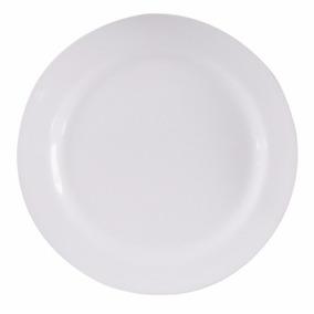 Prato Redondo 28cm Buffet Melamina Branca - 12 Pcs
