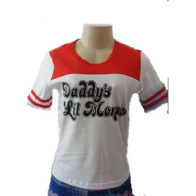 Fantasia Arlequina Camiseta Camisa Harley Quinn
