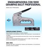 Enrampadora Profesional Bulit+100grampas+100clavos/herra33