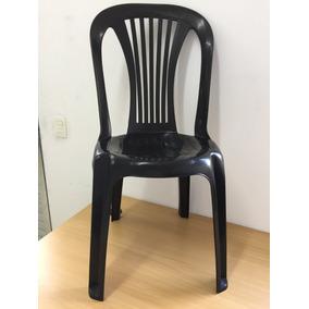 Cadeira Plástico Preto Bistrô120kg Queima Estoque Liquidação