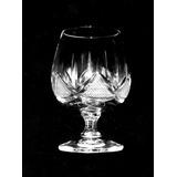 Juego 5 Copas Cognac Brandy Cristal Antiguo Alemán Tallado
