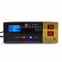 Carregador Bateria Automotiva 10a Inteligente Digital 12v 24