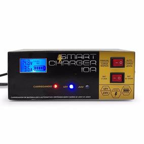 Carregador Bateria Automotiva 10a Inteligente Digital 110v