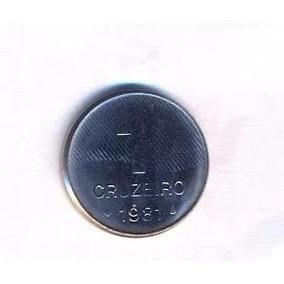 M135+moeda 1 Cruzeiro - 1981 Rara