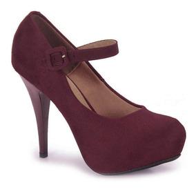Sapato Boneca Salto Feminino Vizzano - Vinho