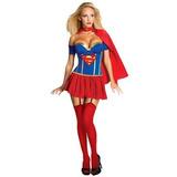 Disfraz Superman Mujer Adulto - Halloween Importado M