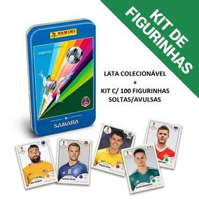Lata Colecionável + Kit Figurinhas Copa Do Mundo 2018 Samara