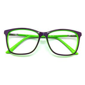 Óculos De Grau Rafaello Rfa062 Acetato Roxo C Verde Armação 0598798609