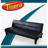 Sillon Sofa Cama Napa Cuero Negro Tisera Reclinable Sof-10