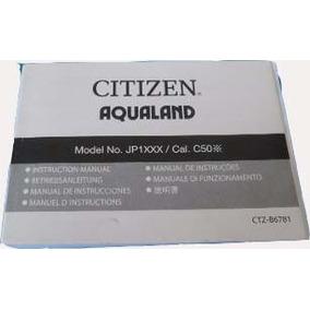 Manual Relogio Masculino Citizen Jp1xxx Cal. C50x Aqualand