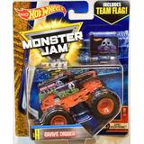 Monster Jam Hot Wheels. Grave Digger. Mattel - Minijuegos