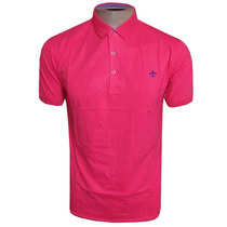 Camisa Polo Lisa Rosa Pink Pima C - Frete Grátis!