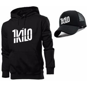 Kit Moletom 1 Kilo + Boné 1 Kilo Hip Hop Rapper Promoção!