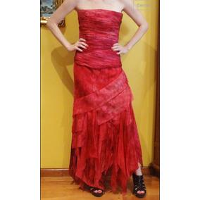 Vestido Largo De Fiesta Strapless Laurencio Adot.