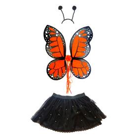 Disfraz De Mariposa Monarca Alas Y Tutu Niña Envio Gratis