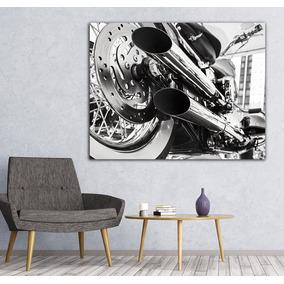 Cuadro Decorativo Motocicleta 54x39cm Con Bastidor 028