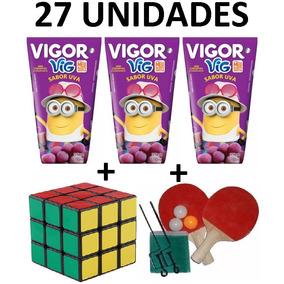 Suco Vigor Uva 200ml (27 Und) + Raquete Ping Pong + Cubo Mág