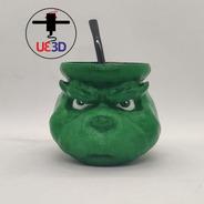 Mate Grinch Impreso En 3d