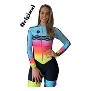Macaquinho Ciclismo Feminino Elite Zig Zag Ml