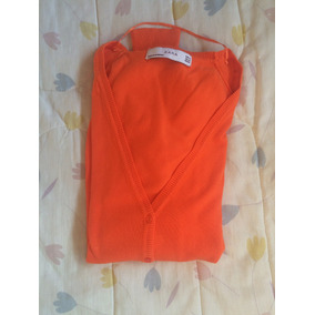 Sweater Cardigan Zara Naranja