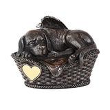 Pet Memorial Ángel Perro Que Duerme En Cesta Cremación Urna