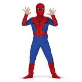 Disfraz Para Niño Traje Clásico Del Hombre Araña - Tamaño N