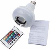 Lampada Led Com Som Bluetooth Bivolt + Controle Varias Cores
