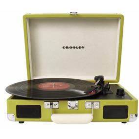 Toca Discos Portable Crosley Cr8005a Verde