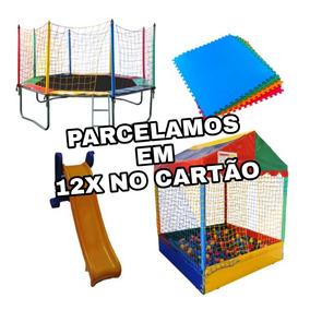 Piscina De Bolinha , Cama Elastica , Escorregador