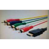 Cable Convertidos Hdmi A 5 Rca Componente 1,5 Mts / Tv Video