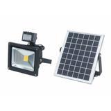 Foco Led 20 W A Energía Solar Panel Acumulador + Sensor
