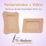 Portarretratos Postal En Mdf Al Crudo Para Pintar Y Decorar.