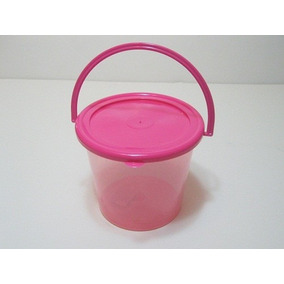 Cubeta De Plástico Dulcero Centro De Mesa Regalo Aguinaldo