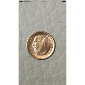 Moneda Maximiliano 1865 Oro Sólido 22 Kilates