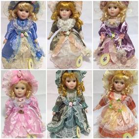6 Boneca De Porcelana Provençal Dama Antiga Época Vitoriana