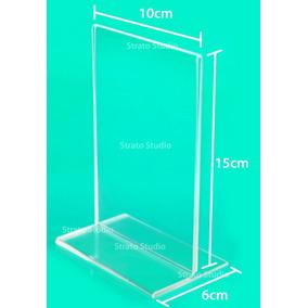 Kit 30 Peças Display De Mesa 10x15 Cm Vert. Ps Cristal