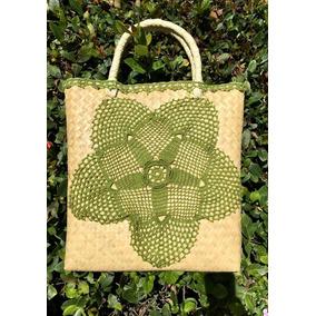 Bolsa Artesanal Con Tejido Crochet